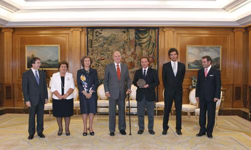 En uno de los salones de Zarzuela IV Edición del Premio de DDHH Rey de España