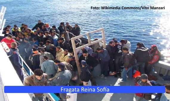 La <strong>fragata Reina Sofía</strong>