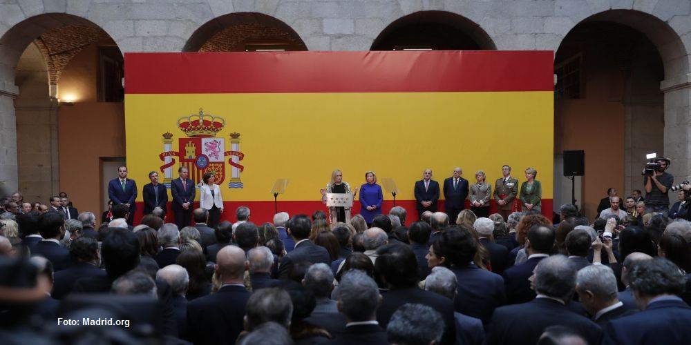 Cristina Cifuentes durante su discurso en los actos conmemorativos de la Constitución