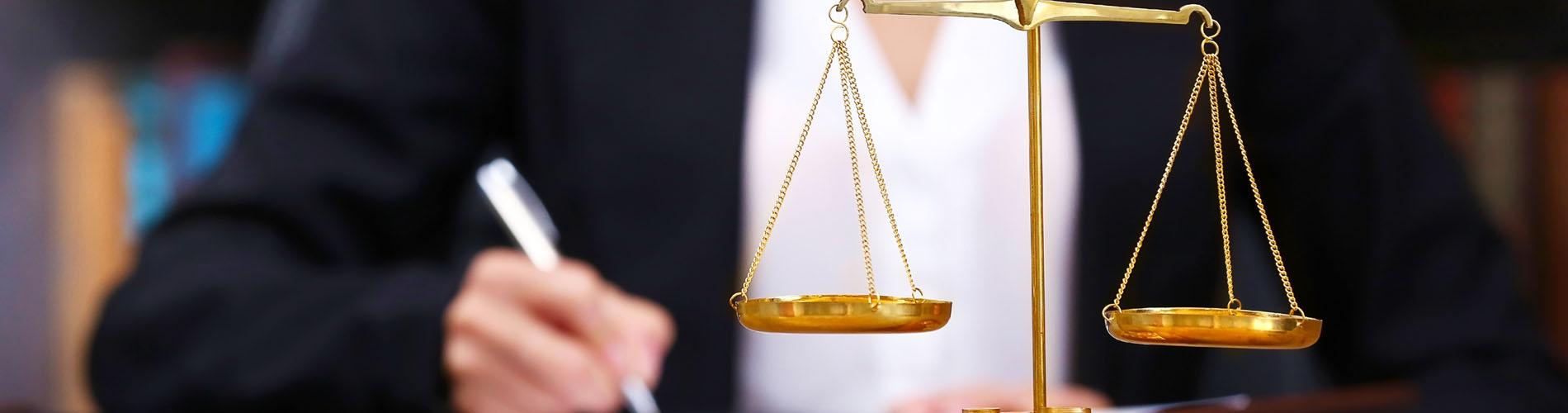 Símbolo de justicia. Balanza