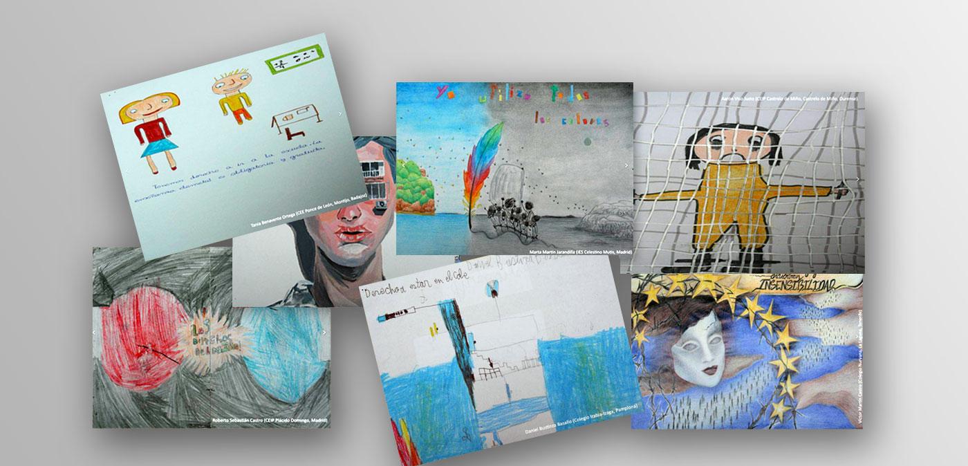 collage con dibujos ganadores concurso 2017