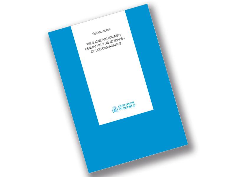 Portada estudio Telecomunicaciones: demandas y necesidades de los ciudadanos