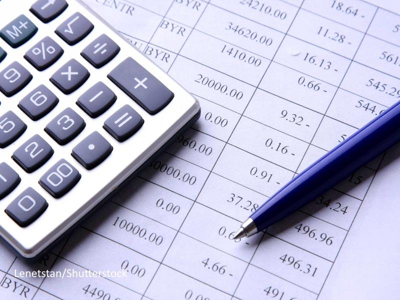 Calculadora sobre folios con cuentas