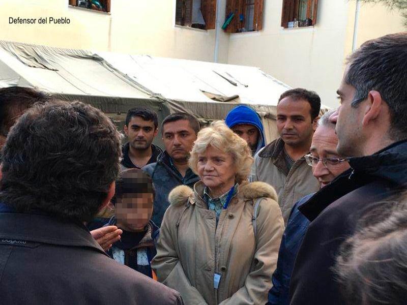 Visita de la Defensora del Pueblo al Campo de Refugiados de Termopilas (Grecia)