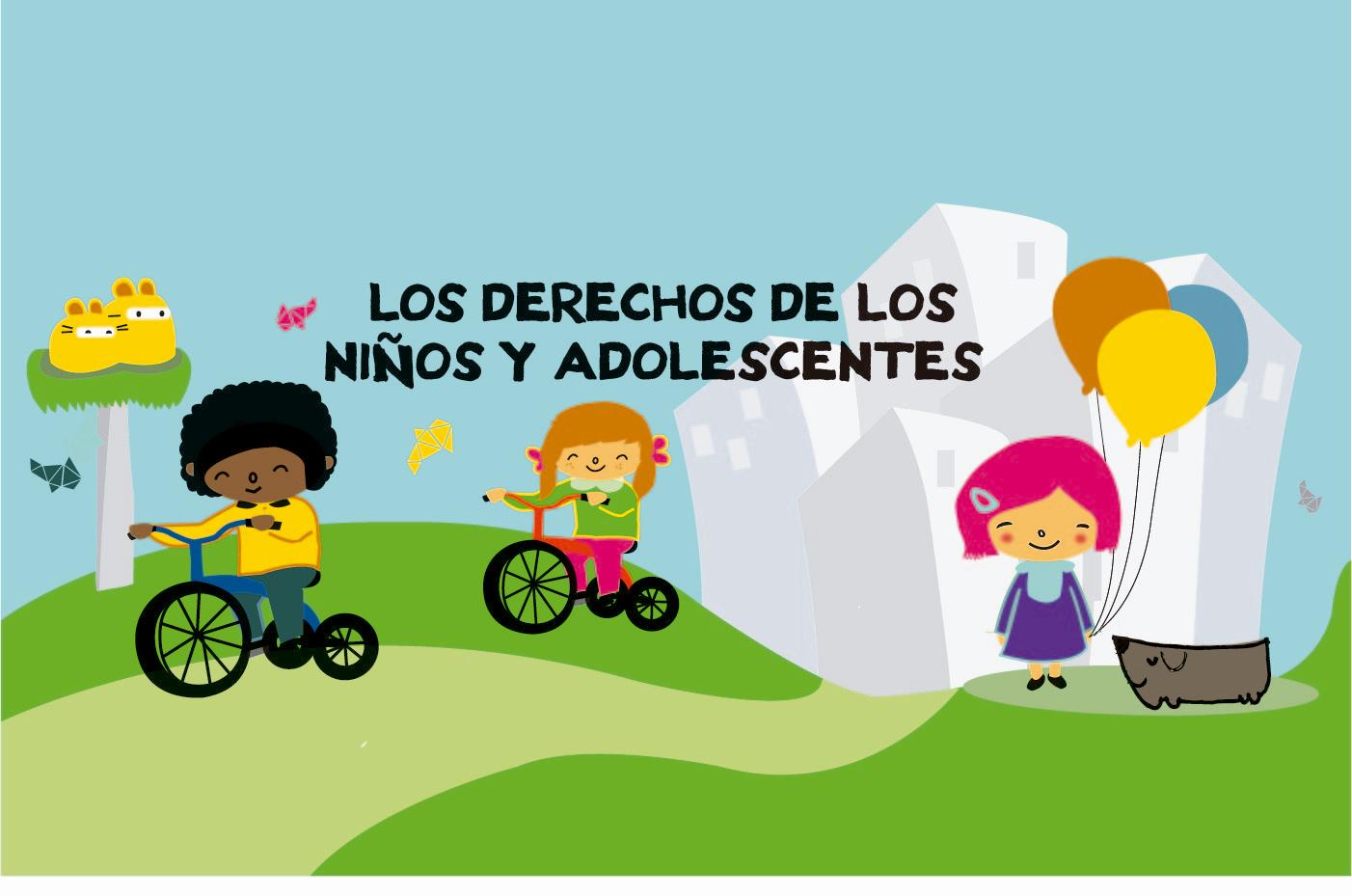 imagen slide con dibujos de niños en un parque