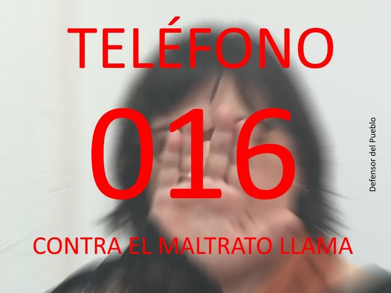 Teléfono 016. Contra el maltrato de género