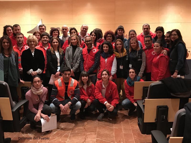 Acogida a Refugiados equipo Cruz Roja