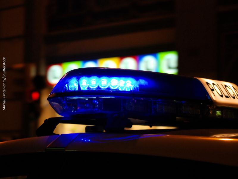 Luz de coche de policía