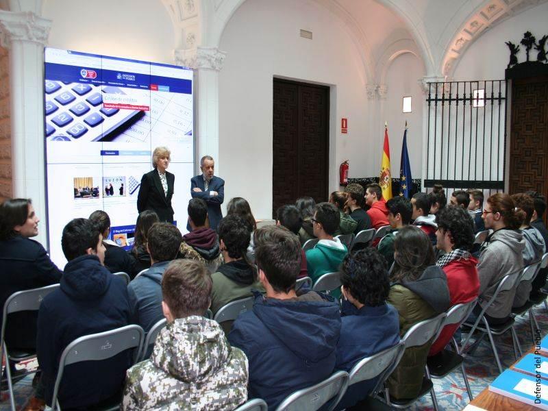 Visita de alumnos del IES Fortuny