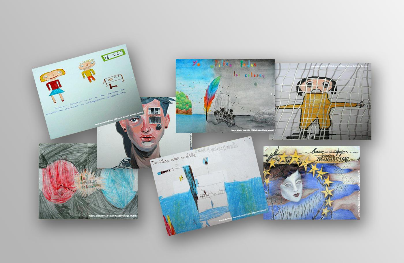 collage con dibujos ganadores 2017