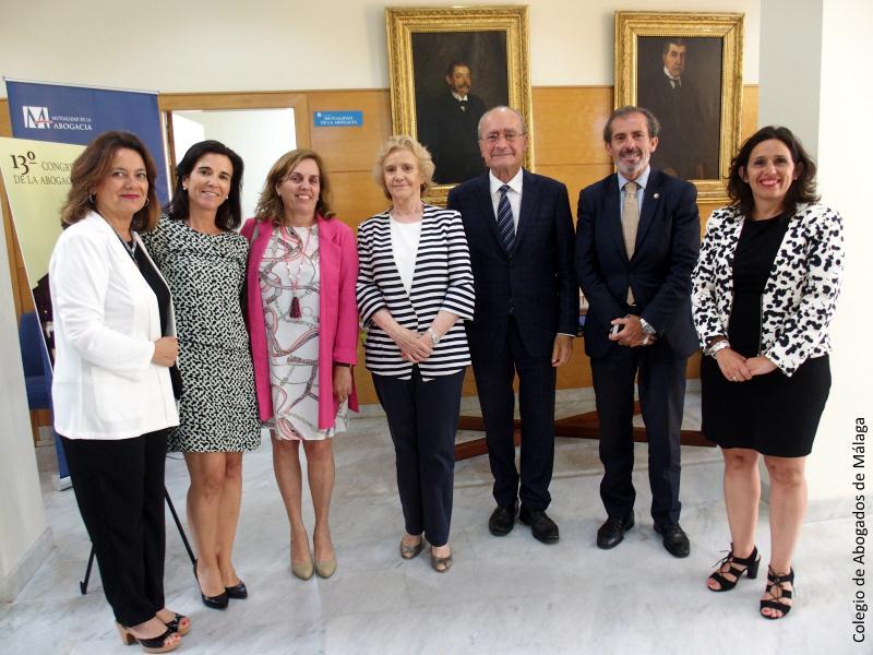 Foto de grupo en el Colegio de Abogados de Málaga