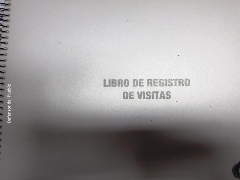 Libro de visitas del Centro de Menores Pi i Margall en la Comunidad Valenciana