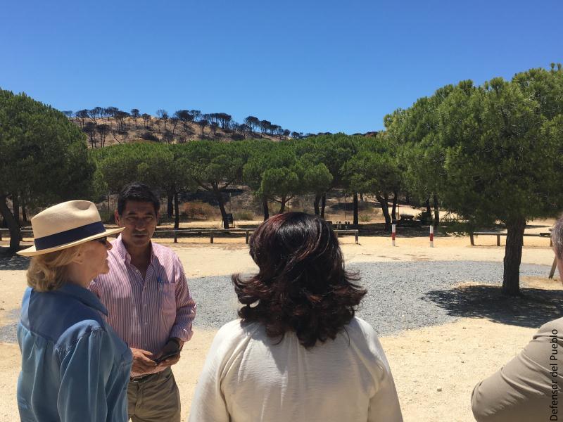 Visita de la Defensora del Pueblo al Parque Nacional de Doñana