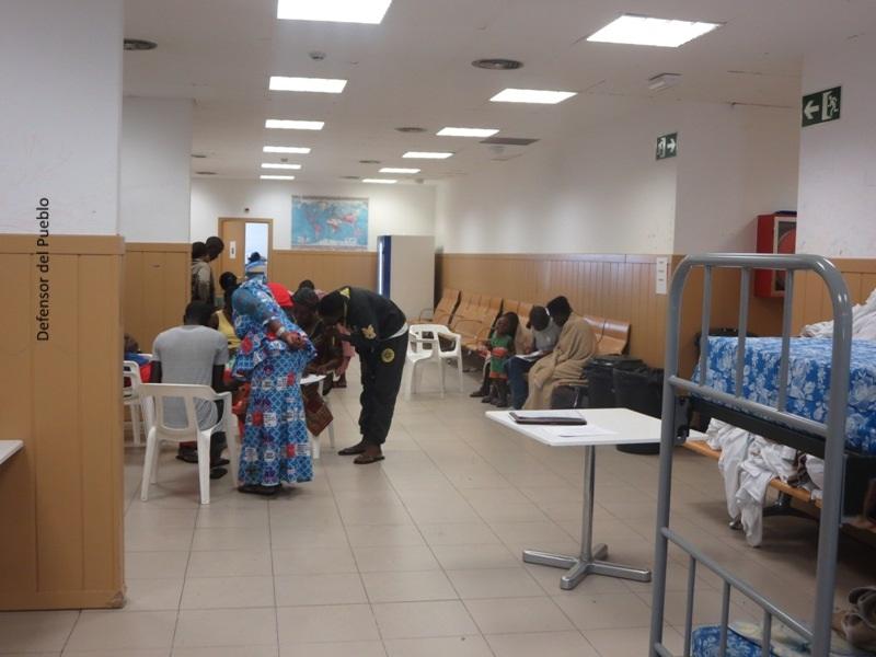 sala solicitantes de asilo del aeropuerto Madrid Barajas