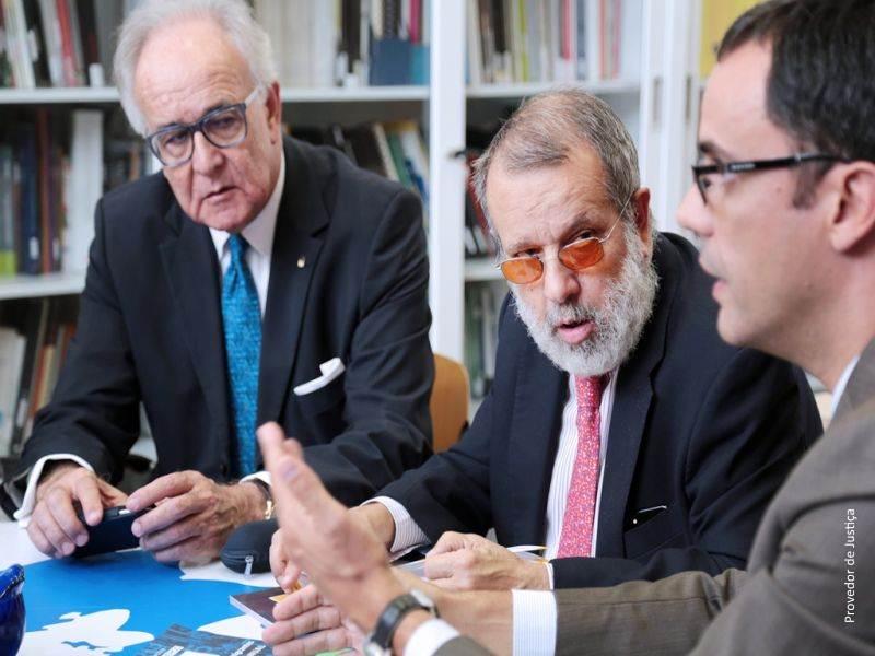 Defensor del Pueblo (e.f.) Francisco Fernández Marugán y Provedor de Justica, José de Faria