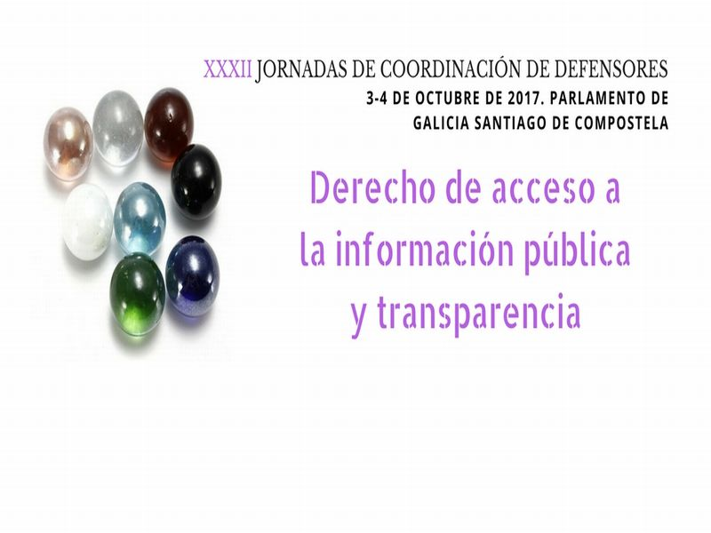 Cartel XXXII Jornadas de Coordinación Defensores del Pueblo