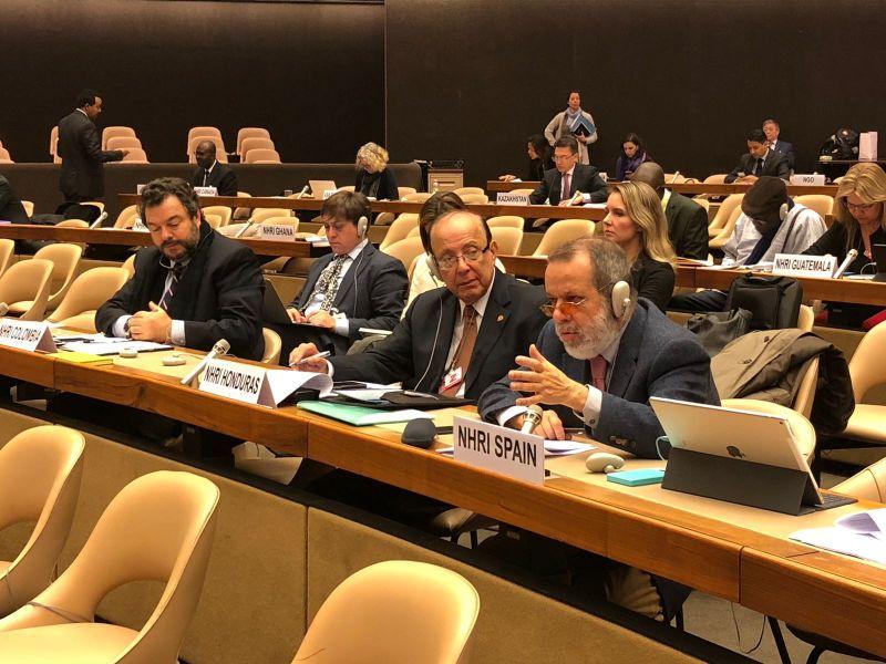 Intervención del Defensor e.f. en la Alianza Global de las Instituciones Nacionales de Derechos Humanos