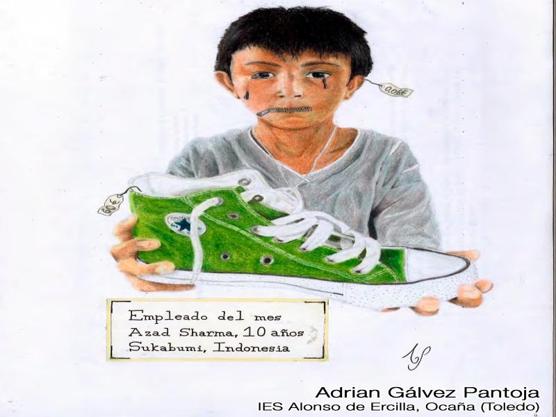 Dibujo ganador de la categoría Bachillerato del concurso de dibujo XV edición del alumno Adrián Gálvez