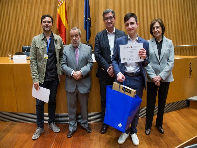 Entrega de premios Concurso de Dibujos XV Edición en el Congreso de los Diputados
