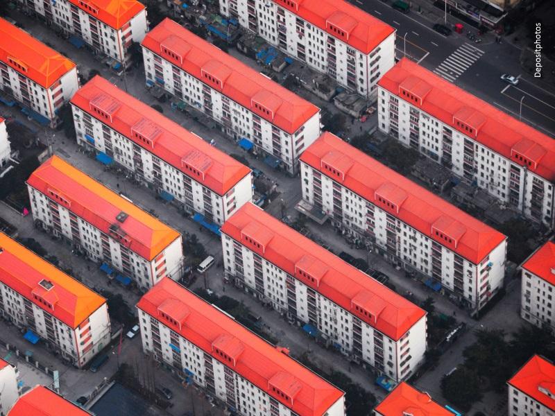 Bloques de edificios de pisos