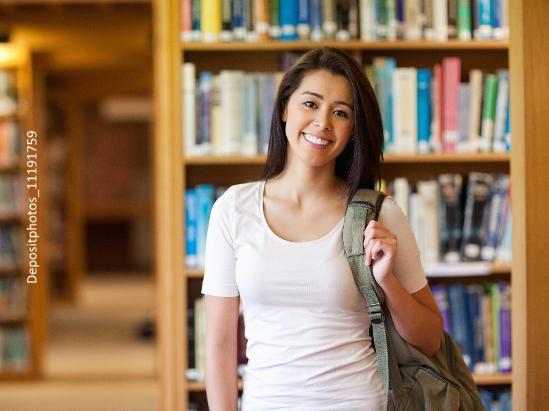 Chica joven estudiante