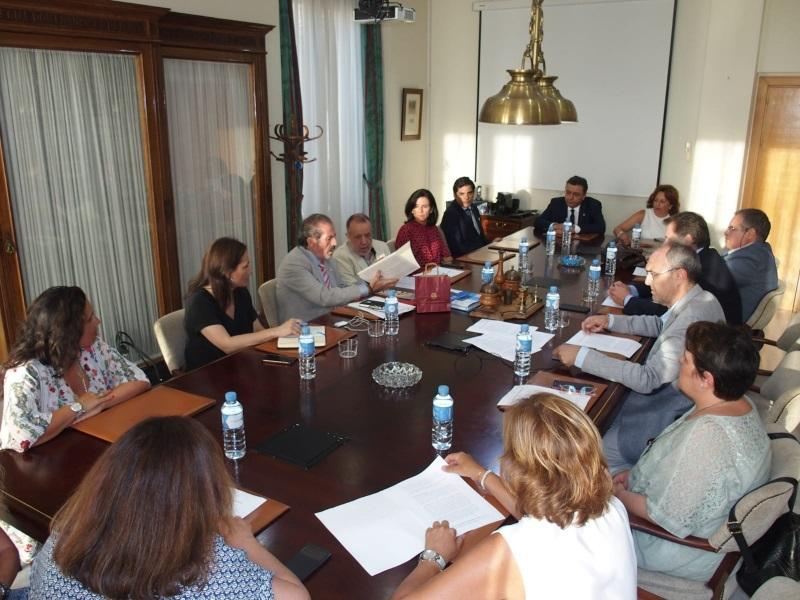 Reunión con responsables del Colegio de Abogados de Málaga