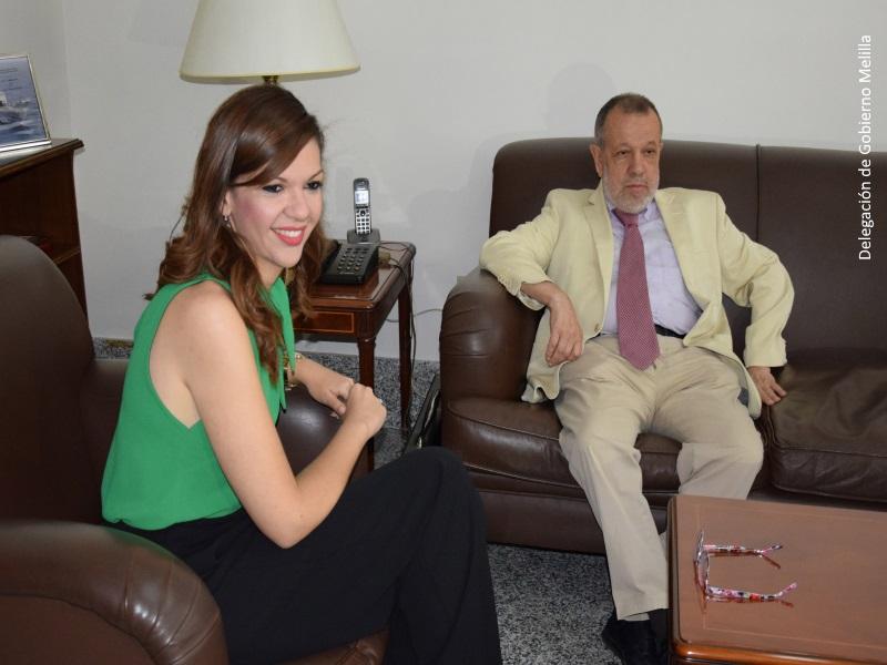 El Defensor del Pueblo (e.f.), Francisco Fernández Marugán y la Delegada del Gobierno en Melilla, Sabrina Moh