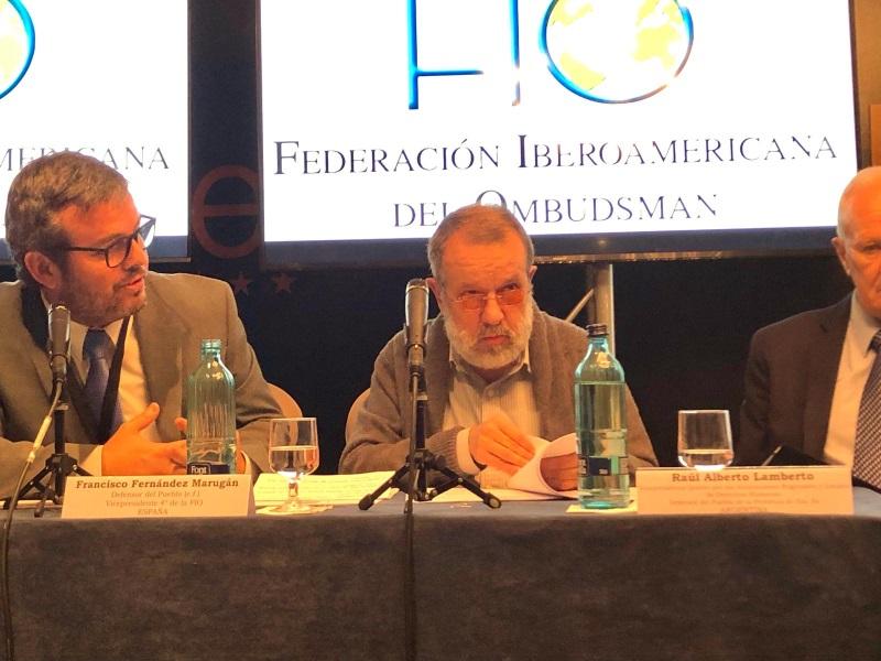 El Defensor del Pueblo (e.f.), Francisco Fernández Marugán, en el XXIII Congreso de la FIO