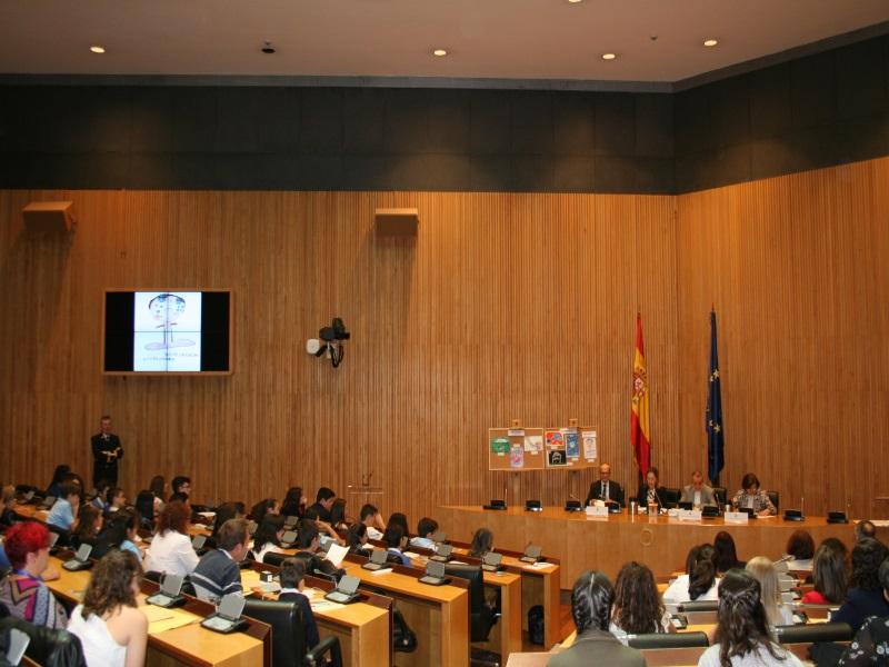 vista sala Ernest Lluch del Congreso durante la entrega de los premios