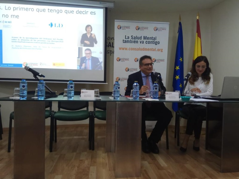 Jefe del área de seguridad y justicia, Andrés Jiménez, en jornadas sobre presos con discapacidad