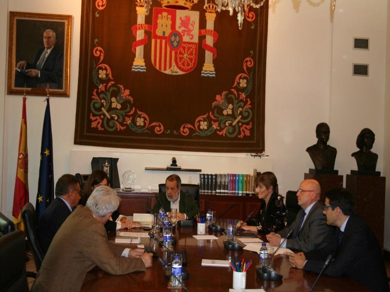 Reunión con el Consejo de la Abogacía en la Sede del Defensor del Pueblo