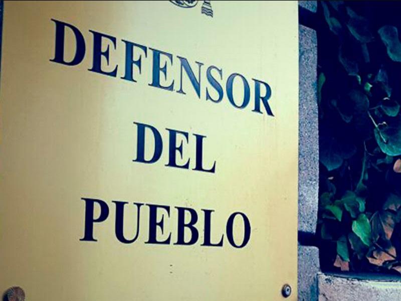 Cartel fachada Sede Defensor del Pueblo