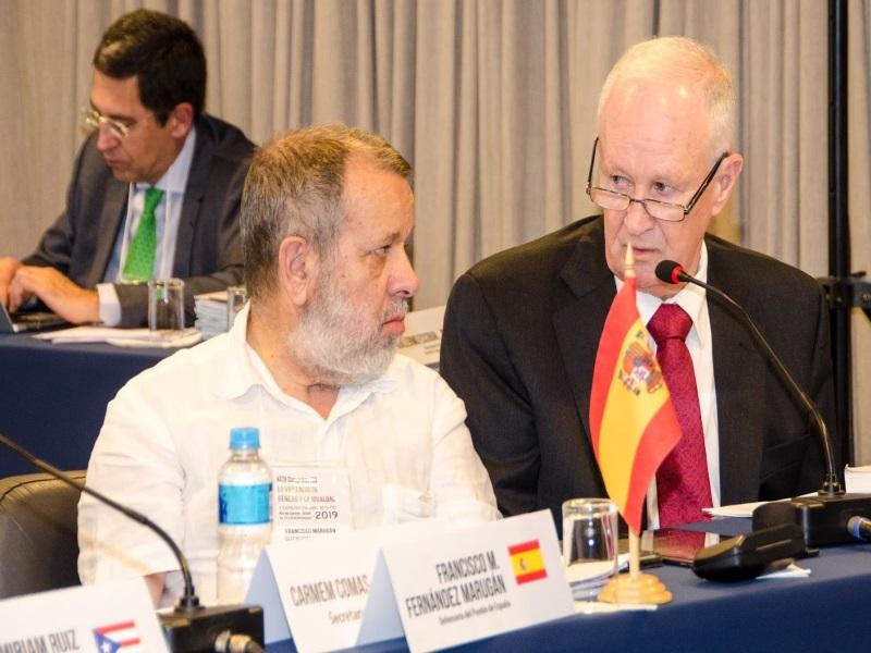 El Defensor del Pueblo (e.f), Francisco Fernández Marugán, en la Asamblea General de la FIO 2019