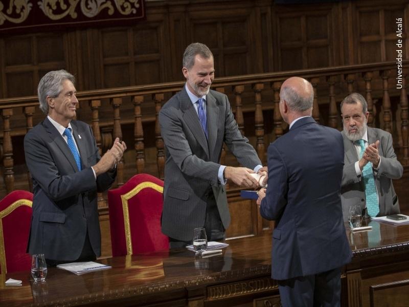 Momento de la entrega del Premio de Derechos Humanos