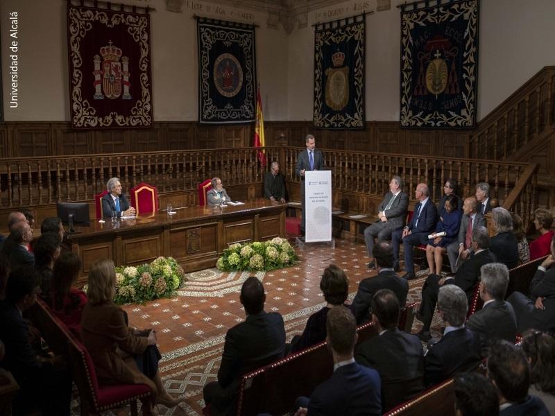 El Rey Felipe VI durante su discurso en la entrega de la VIII edición del Premio de Derechos Humanos Rey de España