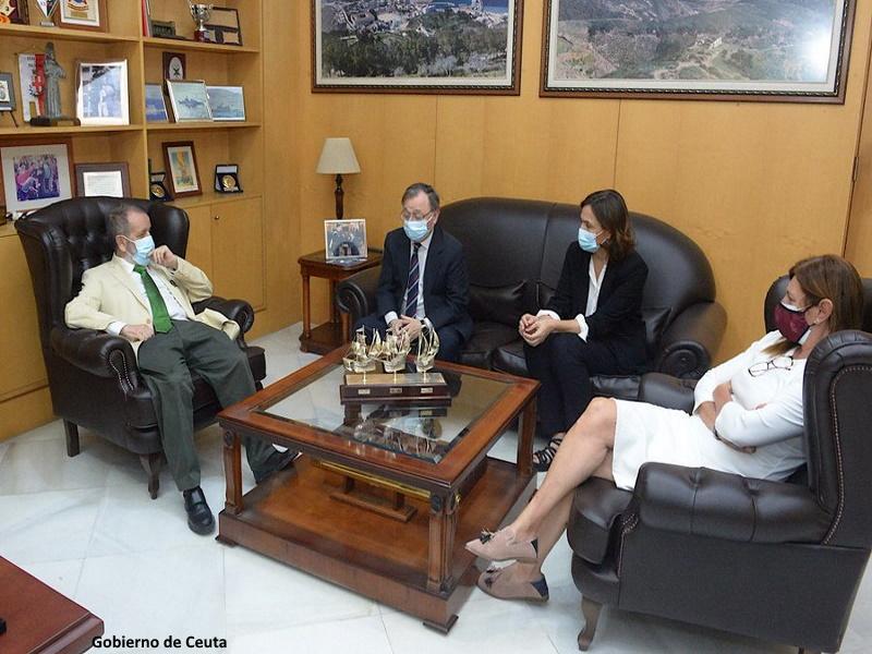Reunión del Defensor con el presidente de la Ciudad Autónoma de Ceuta